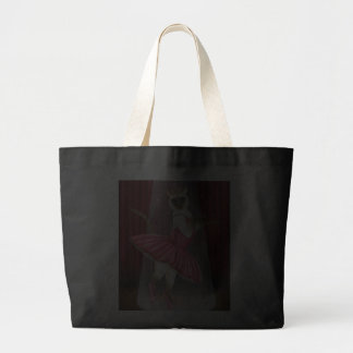 Ballerina Cat Chocolate Point Siamese, Pink Tutu,  Jumbo Tote Bag