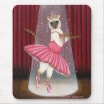 Ballerina Cat Chocolate Point Siamese, Pink Tutu, Mouse Pad