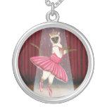 Ballerina Cat Chocolate Point Siamese, Pink Tutu,  Custom Necklace