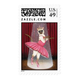 Ballerina Cat Chocolate Point Siamese Postage
