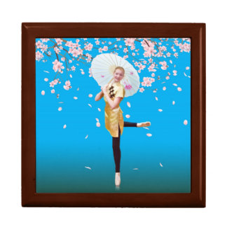 Ballerina, Cherry Blossoms Tile Gift Box