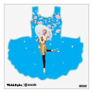 Ballerina, Cherry Blossoms, Wall Decal Customize