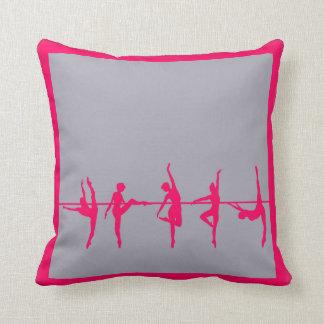 Ballerina Classroom Dance Studio Pink Pillow