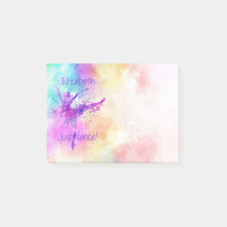 Ballerina Colorful Watercolor Just Dance Post-it Notes