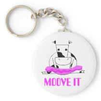 Ballerina Cow Keychain