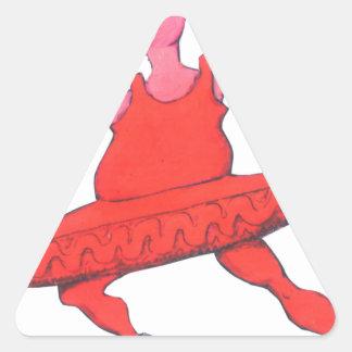 Ballerina Cow Triangle Sticker