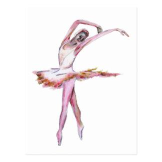 ballerina dance art postcard