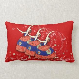 Ballerina Dance Ballet Custom Throw Pillow (Red)