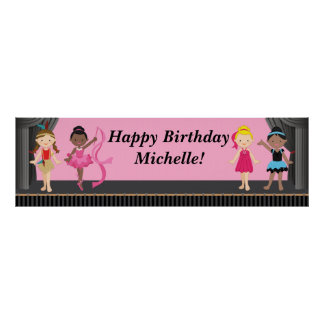 Ballerina Dance Birthday Party Banner 40x12 Poster