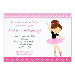Ballerina Invitations Announcements Zazzle