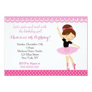 Girls tutu birthday invitations zazzle ballerina dance birthday party invitation filmwisefo