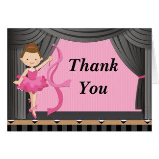 Ballerina Dance Birthday Party Thank You Card