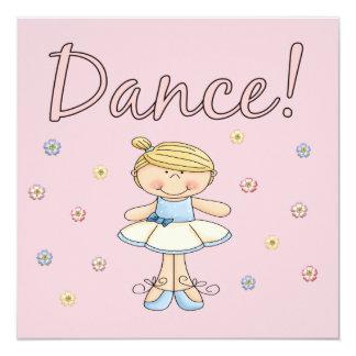 Ballerina Dance Invitations