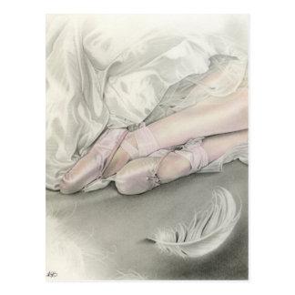 Ballerina dance of the swan Postcard