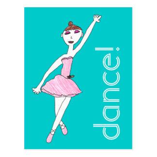Ballerina Dance Postcard