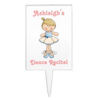 Ballerina-Dance Recital-(Personalize Name) Cake Topper