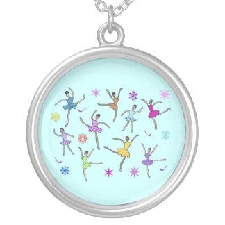 Ballerina Dance Silver Necklace