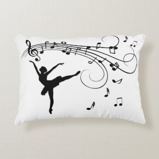 Ballerina Dance with Me Music Note Accent Pillow
