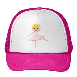 Ballerina dancer blond trucker hat