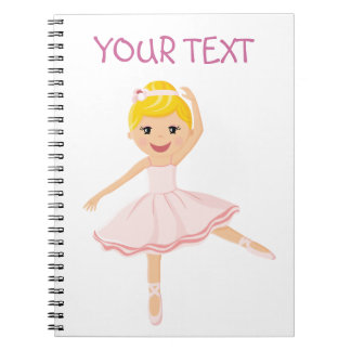 Ballerina dancer blond notebooks