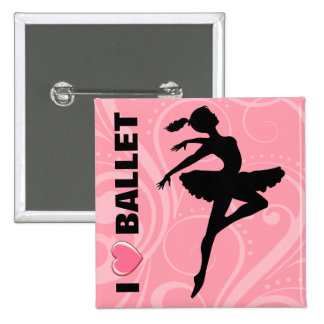 Ballerina Dancer CHOOSE YOUR BACKGROUND COLOR Pinback Button