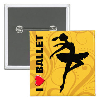 Ballerina Dancer CHOOSE YOUR BACKGROUND COLOR Pin