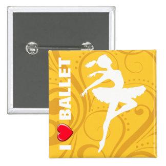 Ballerina Dancer CHOOSE YOUR BACKGROUND COLOR Button