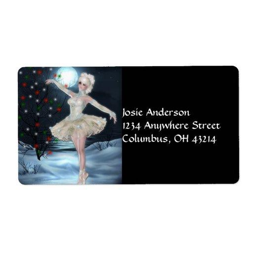 Ballerina Dancer Girl :: Christmas Address Labels