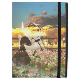 "Ballerina Dancer Gold City Pink Tulips iPad Pro 12.9"" Case"