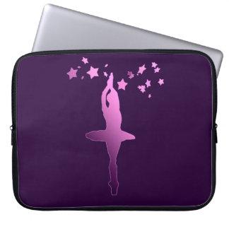 Ballerina dancer laptop computer sleeve