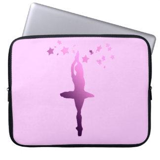 Ballerina dancer laptop computer sleeves