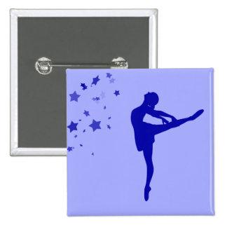 Ballerina dancer pinback button