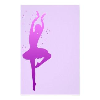 Ballerina dancer stationery