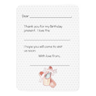 Ballerina Dancer Thank You Kids Note Card