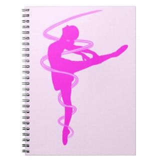 Ballerina dancer with glow effect notebook