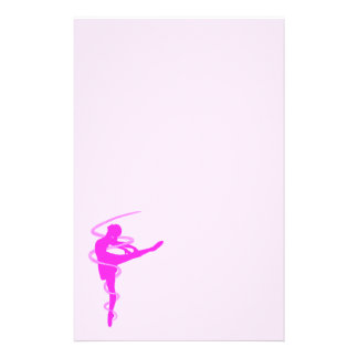 Ballerina dancer with glow effect stationery