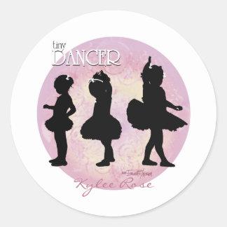 Ballerina Dancers Classic Round Sticker