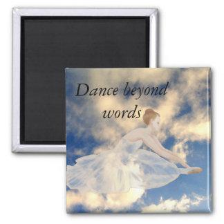 Ballerina Dancers Skies Ballet Dance CricketDiane 2 Inch Square Magnet