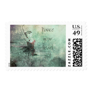 Ballerina Dancing Her Heart Out Postage Stamp