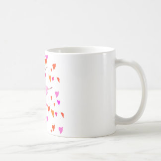 Ballerina dancing in Colorful Hearts Coffee Mug