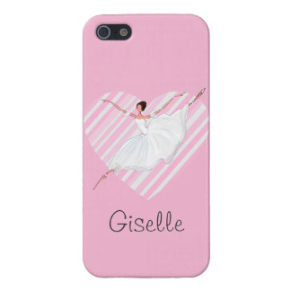 Ballerina dancing in Pink Stripes - Castomizable iPhone SE/5/5s Case