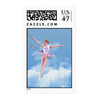 Ballerina Dancing in the Clouds Postage