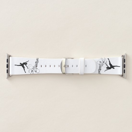 Ballerina Dancing with Music Notes Apple Watch Band