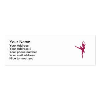 Ballerina dancing woman business card