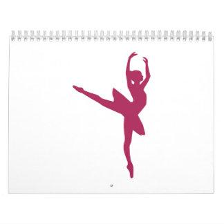 Ballerina dancing woman calendar
