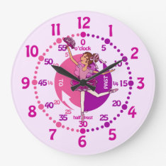 Ballerina Dark Hair Girl Ballet Wall Clock at Zazzle