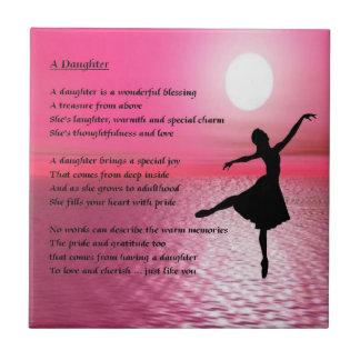 Ballerina Daughter Poem Tile
