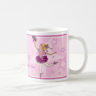 Ballerina daughter star pink & blonde girl mug