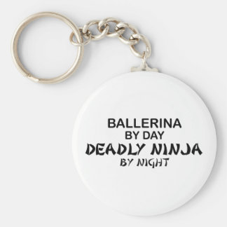 Ballerina Deadly Ninja by Night Keychain