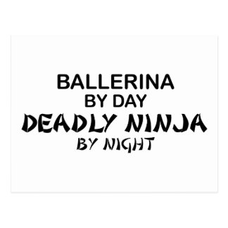 Ballerina Deadly Ninja by Night Post Cards